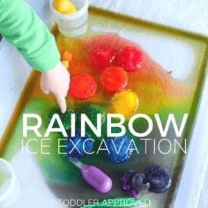 Rainbow Ice Excavation Science Activity