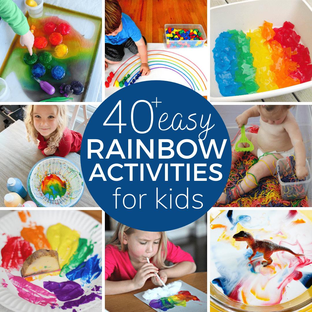 rainbow themed toddler activities