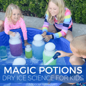 Secret Magic Potions Dry Ice Science Project