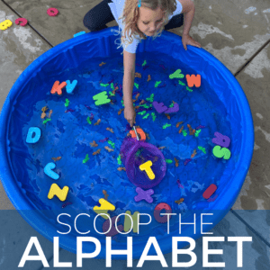 Scoop the ABCS: Letter Recognition Activity