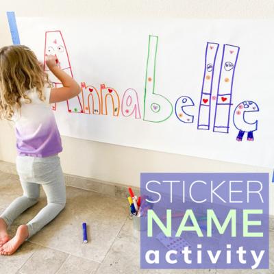 name art for preschoolers