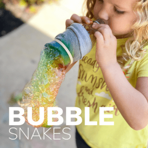 Bubble Snakes Outdoor Activity