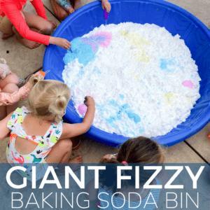 Outdoor Baking Soda and Vinegar Experiment