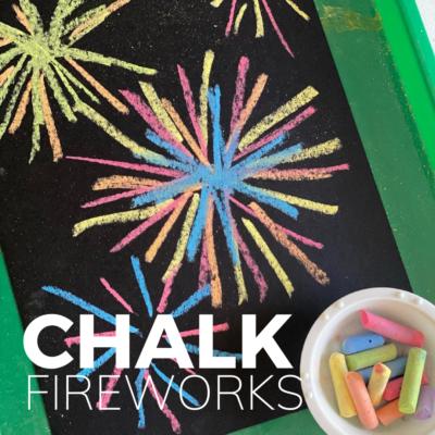 fireworks craft with chalk
