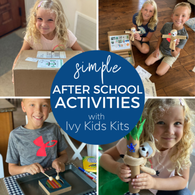 easy to set up book themed subscription kit for kids
