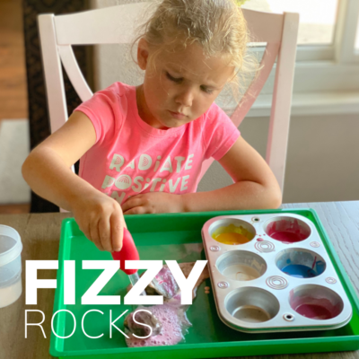 painting rocks with baking soda and vinegar