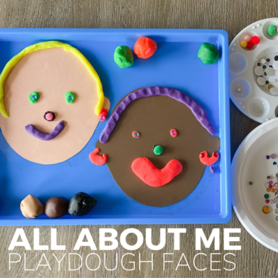 all about me playdough activity for preschoolers
