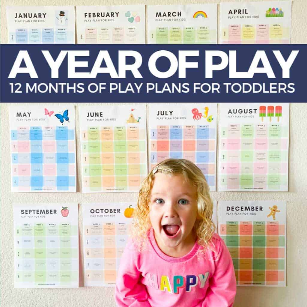 A year of Play - 12 Monrha of play plans for toddlers