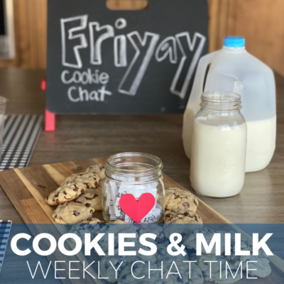 weekly family tradition with cookies and milk