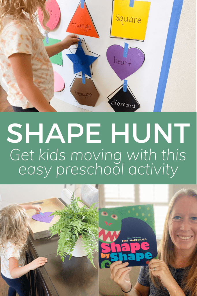 shape hunt get kids moving with this easy preschool activity
