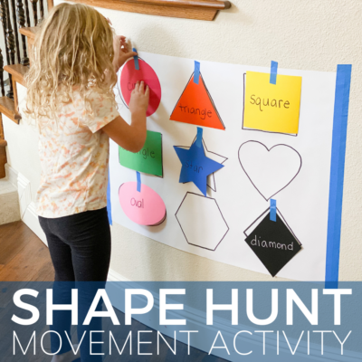 shape activity for preschoolers and toddlers